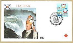 Ersttagsbrief FDC Papst Johannes Paul II - HALIFAX Kanada 1984