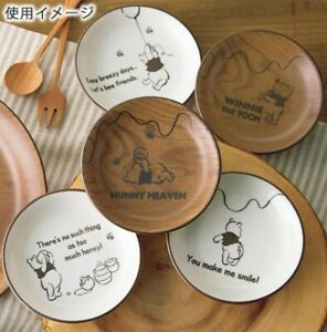 DISNEY Winnie the Pooh Plate 5 set Dish Plates Bowl Tableware Gift Japan I2313