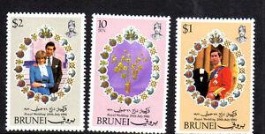 BRUNEI #268-270  1981  ROYAL WEDDING   MINT  VF NH  O.G
