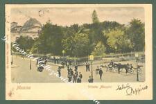 Sicilia. MESSINA. Villetta Mazzini. Cartolina d'epoca viaggiata inizio '900.