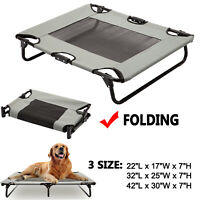 Elevated Pet Cot Dog Bed Raised Camping Sleeper Cooling Mesh Summer Textilene XL