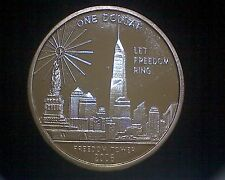 2006 FREEDOM TOWER COMMEMORATIVE ONE TROY OZ .999 SILVER ROUND PROOF #13321