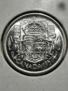 MS 1957 Canada Elizabeth II 1st Portrait Half Dollar  EXACT COIN SHOWN #2