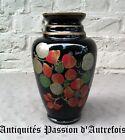 B2017624 - Vase en verre de 24,5 cm peint mains 1930-40 - Très bon état