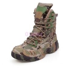 Camouflage Outdoor Desert Climbing Hiking Mens Tactical Military Boot Combat HOT