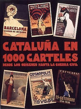 Original Vintage Poster Book Spanish Barcelona Catalan Spain BIG Coffee Table
