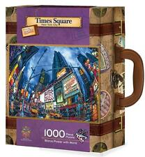 MASTERPIECES COLLECTOR SUITCASE PUZZLE TIMES SQUARE NEW YORK CITY W/BONUS POSTER