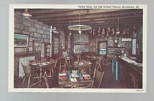 OLD TALBOTT TAVERN COFFEE SHOP-BARDSTOWN,KENTUCKY LINEN POSTCARD CA 1950'S NEW!