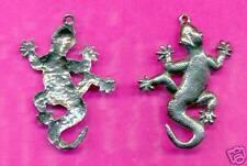 12 wholesale lead free pewter gecko pendants 5117