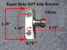 Right Angle 13mm Stud EXTRA Heavy Duty Bracket Strut OUT-Side Mount RV Tear drop