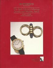 SOTHEBY'S ANDY WARHOL COLLECTION JEWELRY WATCHES Auction Catalog 1988