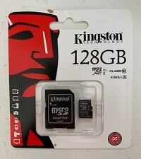 KINGSTON 128GB UHS-U1 Class 10 Micro SD SDXC MemoryCard 128GB IN BLISTER