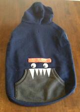 NEW TOP PAW Dog Pet Winter Fleece LARGE Hoodie Jacket Coat Navy Monster - SALE