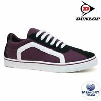MENS DUNLOP MEMORY FOAM BURGUNDY CANVAS PLIMSOLLS PUMPS SHOES TRAINERS UK 7-12