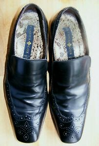 PATRICK COX ADRIAN Black Leather Mens Shoes Size 8 Italian. Good condition.