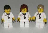 LEGO LOT OF 3 NEW DOCTORS AND NURSE HOSPITAL MINIFIGURES FIGS