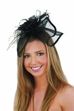 Jacobson Hat Company Women's Mini Hat Headband with Flower & Feathers