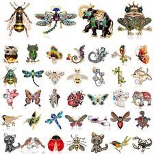 Fashion Crystal Rhinesone Pearl Animal Dragonfly Butterfly Bird Brooch Pin Gift