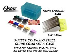 OSTER 9 STAINLESS STEEL GUIDE Blade COMB SET*Fit A5,A6,GOLDEN,TURBO,AGC Clippers
