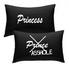 Princesse, prince sagouin noir taie d'oreiller-mariage anniversaire saint-valentin