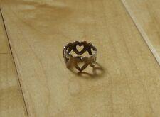 Vintage Novelty Hearts Ring - Retro Fashion Adjustable