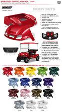 "EZGO Body Kit - NEW TITAN Body Kit w/ Matching 80"" Top & Deluxe Headlight kit"