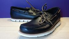 Mens Timberland Black  Tidelands 2 Eye Leather Shoes Boat Lace Up size 10