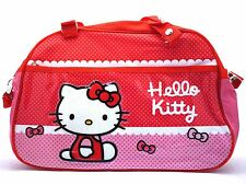 HELLO KITTY PINK SCHOOL BAG SATCHEL SHOULDER BAG HANDBAG LUNCHBAG