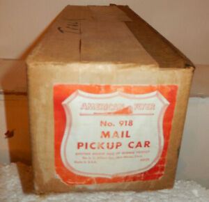 American Flyer 918 Mail PickUp Car Original Box and Interior wrapper Only