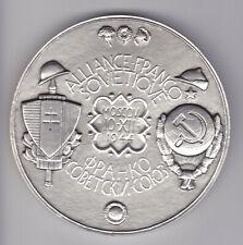 XL WWII Art Deco Slvered Bronze Franco-Soviet Alliance, Marcel Renard