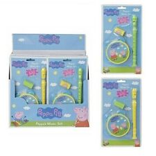 Peppa Pig Music Set Girls Boys Tambourine Recorder Toy Christmas Gift