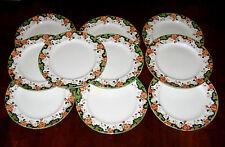 "Set Of 10 Antique John Maddock & Sons ""Westminster"" 9 3/4"" Dinner Plates"