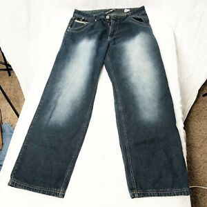 Raider Infamous Mens Jeans 38 34 Dark wash zippered pockets pants