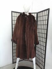REFURBISHED NEW SHEARED MINK FUR REVERSIBLE COAT JACKET WOMEN WOMAN SIZE 16-18