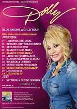 DOLLY PARTON 2014 TOUR FLYER - BLUE SMOKE COUNTRY CONCERT - GENUINE MUSIC PROMO