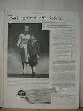 1938 North Western Mutual Life Insurance Mother + Son Vintage Print Ad 077