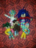 Worry Dolls, Wicca, Pagan, Jute, Witch, Yarn, Child, Peace, Sleep, Free Postage