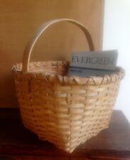Vintage Bustle Square Bottom Basket With Handle Excellent