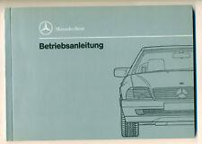 Mercedes 300 SL 500 SL  600 SL Bedienungsanleitung 1991 Bedienungsanleitung W129