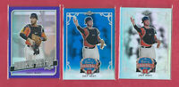 Joey Bart 2019 Leaf Best of Baseball & Rookie Retro 3 Card Lot , Giants