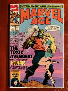 Marvel Age #98 First Preview Cover Appearance Toxic Avenger Key Comic Book