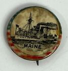 Vintage USS Maine Small Button Pin