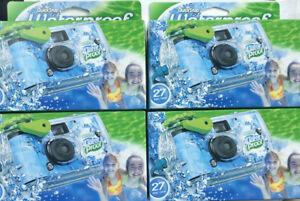 LOT Of 4 - Fujifilm Quick Snap Waterproof 27exp 35mm Camera 800 film Exp. 09/21