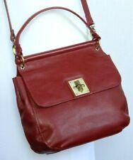 Dickins & Jones House of Fraser RED LEATHER TOP HANDLE  / CROSS BODY BAG Medium