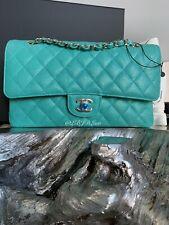 4b08f020d4ea CHANEL 19S Iridescent Green Caviar Medium Classic Flap Bag 2019 CC Pearly  Gold