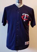 NEW Vintage Justin Morneau Minnesota Twins Majestic MLB Jersey Mens Large L #33