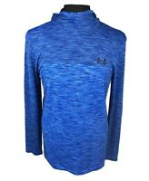 Under Armour Running Gym Fitted Royal Blue Siphon Long Sleeve Hoodie Mens 2XL!