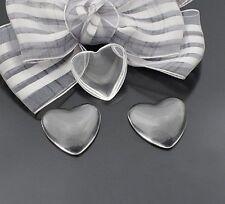 15pcs 23mm coeur clair transparent dôme loupe cabochon cover #22641