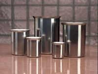 Zoro Select 80250 Beveled Beaker,250Ml,Stainless Steel