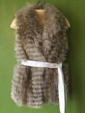 NWT New GORSKI From Newman Marcus Coyote Fur Vest Extra Small Xs